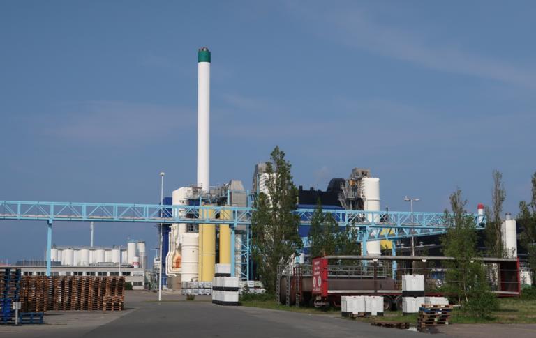 Industry facility in the Nyborg ecoregion