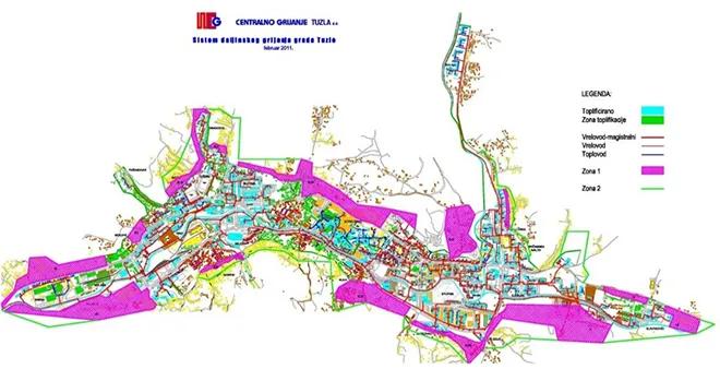 Heat network Tuzla (Retrieved from: https://www.upgrade-dh.eu/en/tuzla-bosnia-and-herzegovina/)
